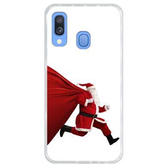 Capa Hapdey para Samsung Galaxy A40 2019 Design Pai Natal com Pressa em Silicone Flexível e TPU
