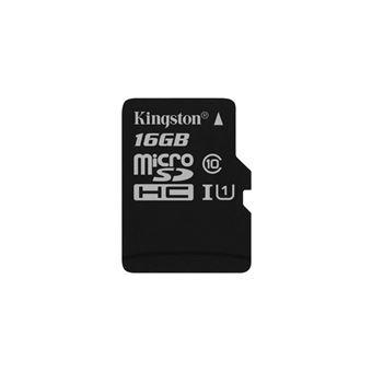 cartão de memória Kingston Technology Canvas Select 16GB MicroSD UHS-I Class 10  Preto