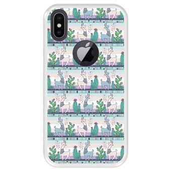 Capa Tpu Hapdey para Iphone X - Xs | Design Padrão de Lhama 2 - Transparente