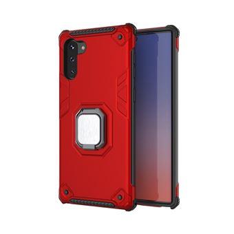 Capa Magunivers de TPU Suporte de Anel de Dedo Blindado Vermelho para Samsung Galaxy Note 10 5G/Note 10