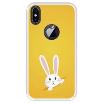 Capa Tpu Hapdey para Iphone X - Xs | Design Coelhinho Da Páscoa - Transparente
