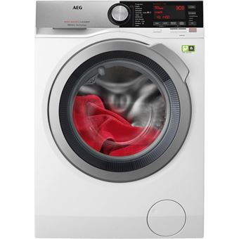 Máquina de Lavar Roupa AEG L8FEC942 Isolado Carregamento frontal 9kg 1400RPM A+++ Branco