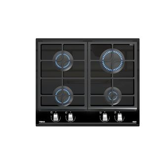 Placa de Cozinha a Gás Vitrocerâmica Encastrável Teka GZC 64300 Preto