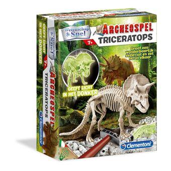 Conjunto de Ciência e Brinquedos Clementoni 66696 Archeospel Triceratops