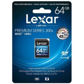 Lexar 64GB Class 10 SDXC 300x