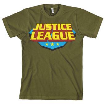 T-shirt Justice League Classic Logo | Verde | XXL