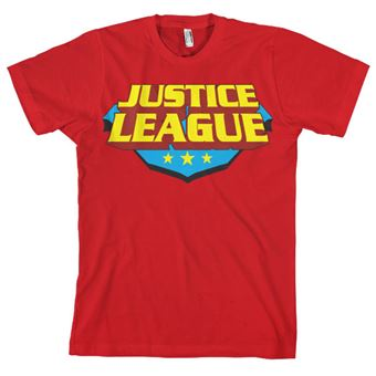 T-shirt Justice League Classic Logo | Vermelho | XXL