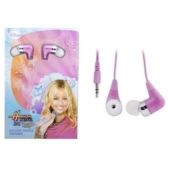 Auriculares Disney Hannah Montana Rosa, Branco
