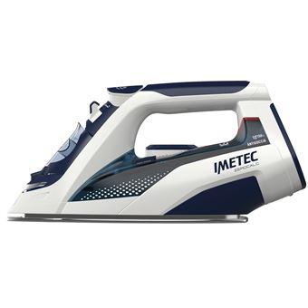 Ferro de engomar Imetec ZeroCalc Z3 3500 Ferro a seco e a vapor Base em aço inoxidável 2400W Azul, Branco