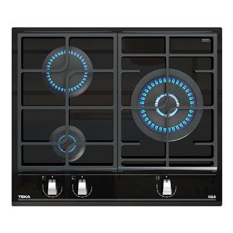 Placa de Cozinha a Gás Vitrocerâmica Encastrável Teka GZC 63310 Preto