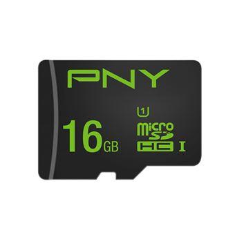 cartão de memória PNY High Performance 16GB MicroSDHC UHS-I Class 10  Preto