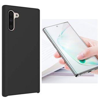 Kit Película de Vidro Phonecare 5D Full Cover Curved + Capa Silicone Líquido para Samsung Galaxy Note 10 - Preto
