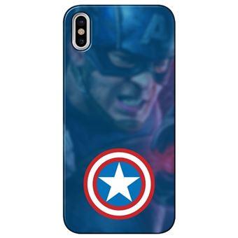 Capa Personalizada MakeUCase para iPhone X Capitão América SH01 Transparente