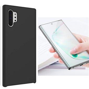 Kit Película de Vidro 5D Full Cover com Capa Silicone Líquido Phonecare para Samsung Galaxy Note 10 Plus Preto