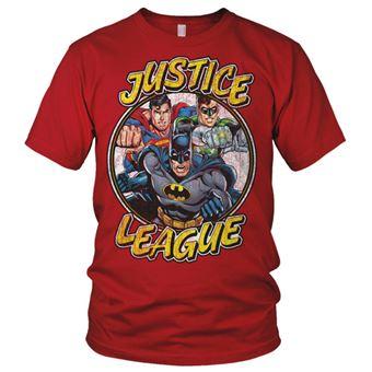 T-shirt Justice League Team | Vermelho | S