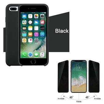 Kit Película de Vidro Phonecare Anti-Spy com Capa Silicone Liquido para iPhone 6 Plus/6s Plus - Preto