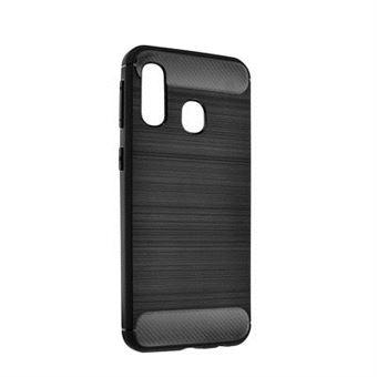 Capa Forcell Carbon para Samsung Galaxy A40 - Preto