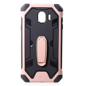 Capa Magunivers TPU híbrido resistente a choques com kickstand rosa para Samsung Galaxy J4 (2018)