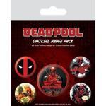 Pack de 5 Crachás Pyramid International Marvel Deadpool
