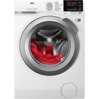 Máquina de Lavar Roupa AEG L6FBG844 Isolado Carregamento frontal 8kg 1400RPM A+++ Branco