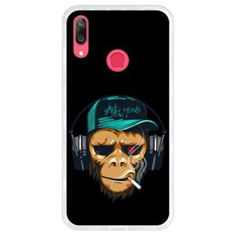 Capa Hapdey para Huawei Y7 2019 - Y7 Prime 2019 Design DJ Macaco em Silicone Flexível e TPU