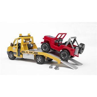 Veículo de Brincar Todo Terreno e Reboque Bruder Mercedes Benz Sprinter com Luzes