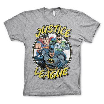 T-shirt Justice League Team   Cinzento   S