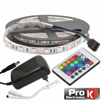 Kit Fita LEDs Prok Fita 300 LEDs 5050 12V 5M Rgb Comcontrol