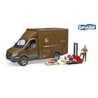 Carrinha de Entregas de Brincar Bruder Mercedes Benz Sprinter UPS com Figura e Acessórios