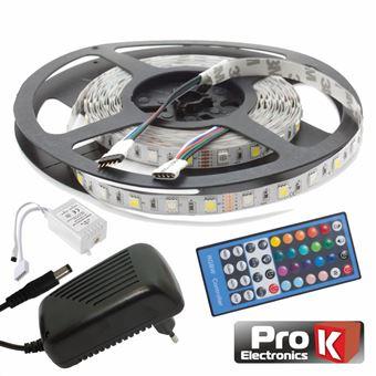 Kit Fita LEDs Prok Fita 300 LEDs 5050 12V 5M Rgb+W Comcontrol