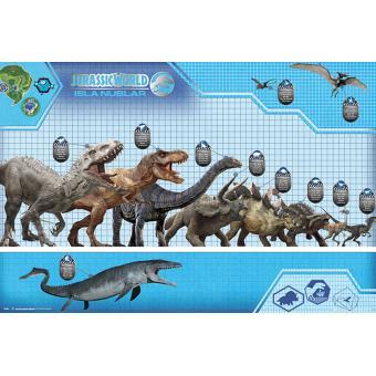 Poster Close Up Jurassic World Dinosaur Size Chart 61 x 91,5 Cm