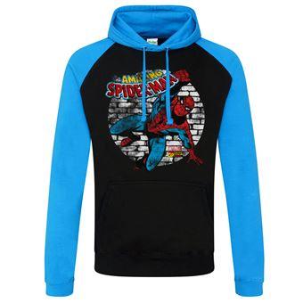 Casaco de Basebol para Desporto Marvel Comics - Distressed Spider-Man   Preto e Azul   L