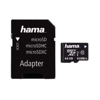 cartão de memória Hama 64GB microSDXC  Class 10 UHS  Preto