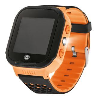 Smartwatch Forever KW-200 Preto, Laranja