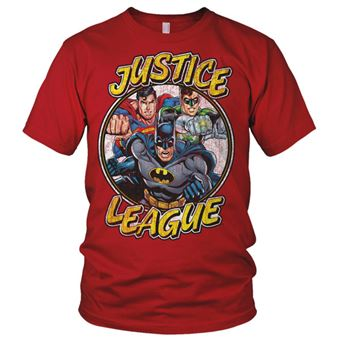 T-shirt Justice League Team | Vermelho | M