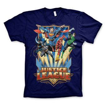 T-shirt Justice League - Team Up! | Azul Marinho | XXL