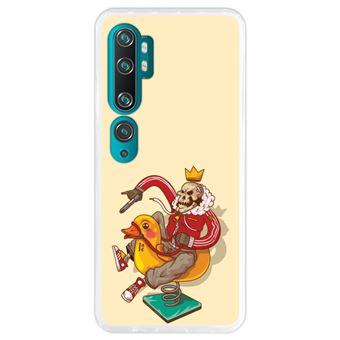 Capa Hapdey para Xiaomi Mi Note 10 - Note 10 Pro - CC9 Pro | Silicone Flexível em TPU | Design Gangster em atrações infantis - Transparente