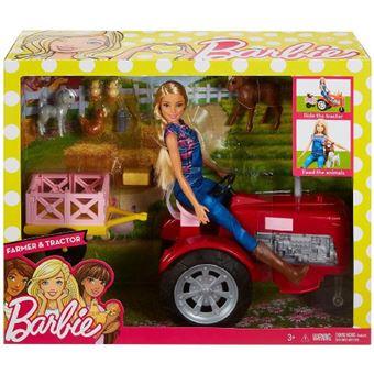 Barbie Agricultora E O Seu Tractor Mattel