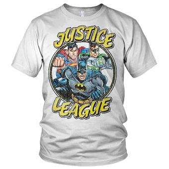 T-shirt Justice League Team | Branco | M