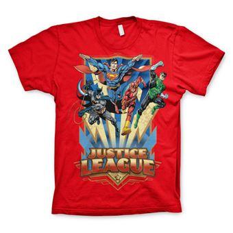 T-shirt Justice League - Team Up!   Vermelho   XXL