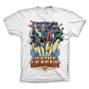 T-shirt Justice League - Team Up! | Branco | XXL