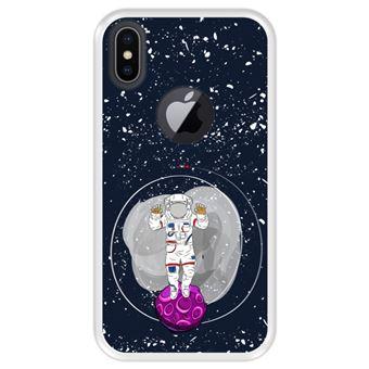 Capa Tpu Hapdey para Iphone X - Xs | Design Cosmonauta No Espaço - Transparente