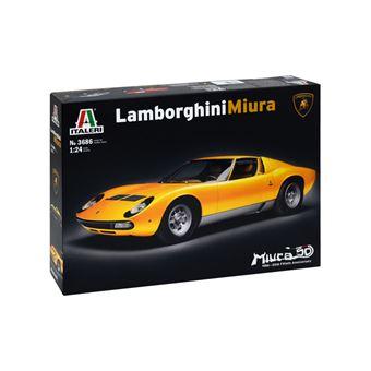 Kit de montagem Lamborghini Miura Modelo de carro clássico Italeri 3686 1:24