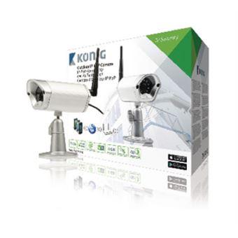 König SAS-IPCAM116 câmara de segurança Câmara de segurança IP Exterior Bala Secretária/Parede
