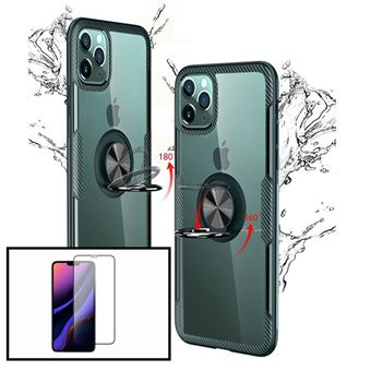 Kit Phonecare | Capa 3x1 Clear Armor + Película Vidro Temperado 5D Full Cover iPhone X / XS