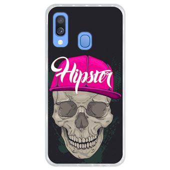 Capa Hapdey para Samsung Galaxy A40 2019 Design Caveira Hipster em Silicone Flexível e TPU