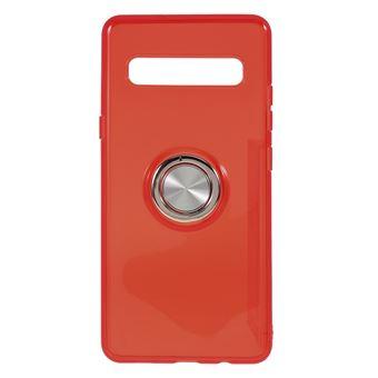 Capa Magunivers de TPU Vermelho com Suporte de Anel para Samsung Galaxy S10 5G