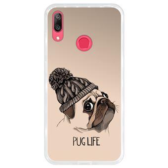 Capa Hapdey para Huawei Y7 2019 - Y7 Prime 2019 Design Filhote de Pug Hipster em Silicone Flexível e TPU