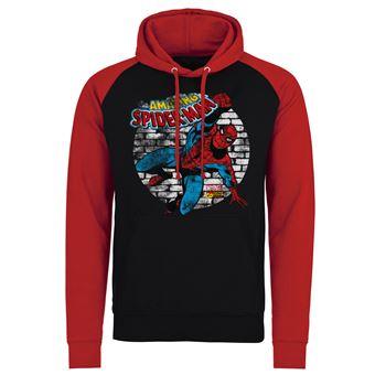 Casaco de Basebol para Desporto Marvel Comics - Distressed Spider-Man | Preto e Vermelho | XXL