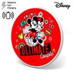 Carregador Dock para  Smartphones Disney   Qi   Universal    Minnie e Mickey    Carga Rápida